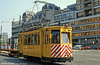 Works cars are often converted from earlier vehicles in the fleet and offer an insight into the type of vehicles previously operated by particular cities. This is Antwerpen 8826 of 1902 vintage in the City Centre on 1st August 1990.