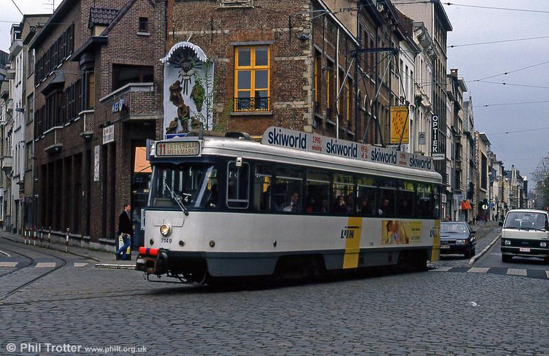 Car 7149 at St. Jacobsmarkt on 13th April 1994.