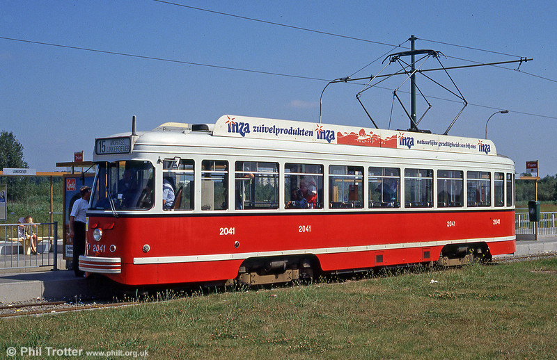 Car 2041 at Linkeroever on 29th August 1991.