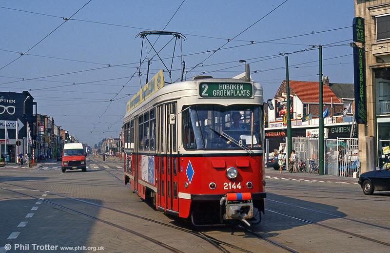 Car 2144 at Steenweg, Zwaantjes on 1st August 1990.