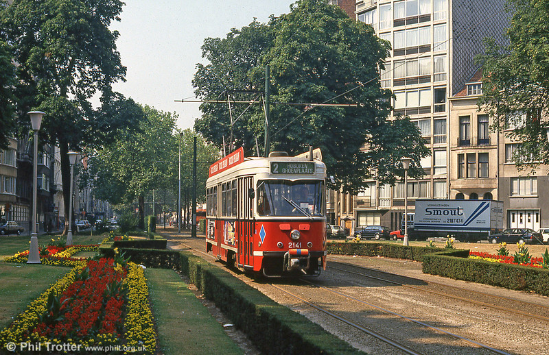 Car 2141 at Belgielei on 1st August, 1990.