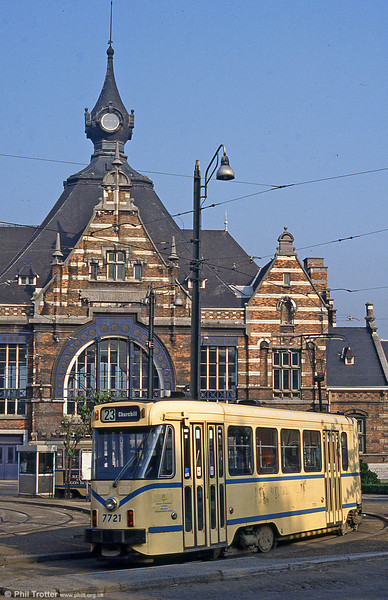 Car 7721 at Schaarbeek Station on 26th August 1991.