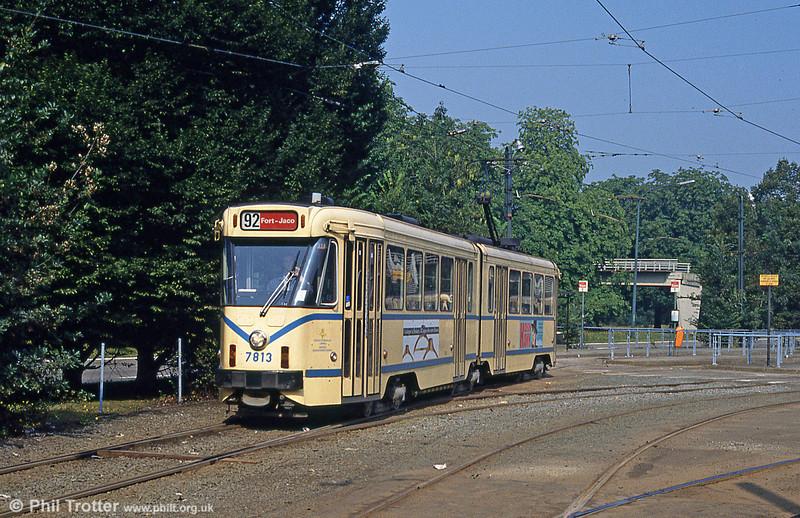 Car 7813 at Esplanade on 26th August 1991.