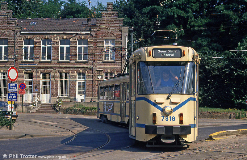 Car 7818 at Schaarbeek Station on 26th August 1991.
