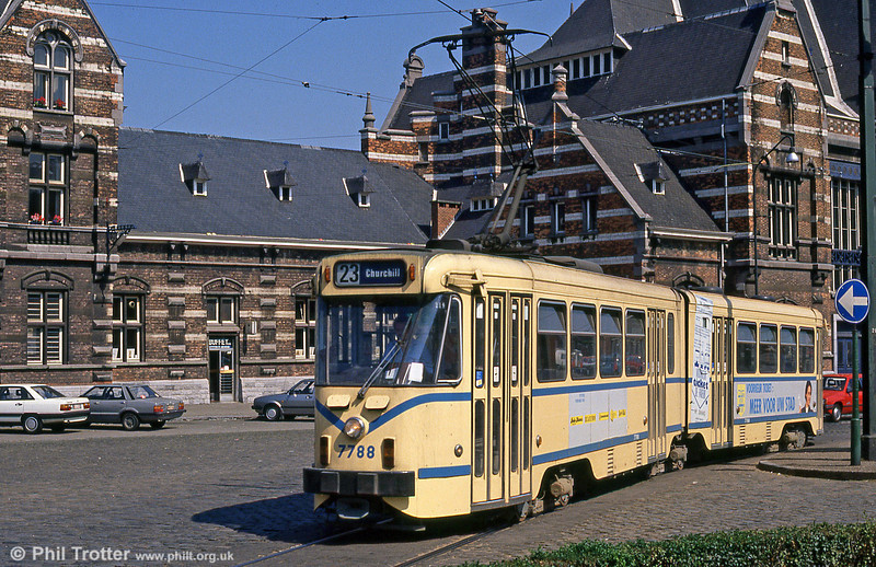 Car 7788 at Schaarbeek Station on 2nd August 1990.
