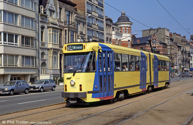 Car 7744 at Ixelles on 26th August 1991.