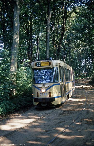 Car 7782 in the woods at Tervuren on 2nd August 1990.