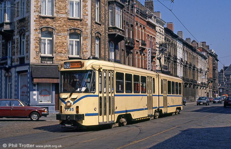 Car 7795 near Schaerbeek on 2nd August 1990.
