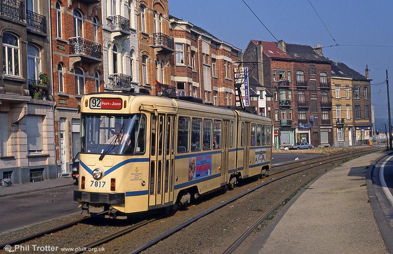 Car 7817 at Princesse Elisabeth on 26th August 1991.