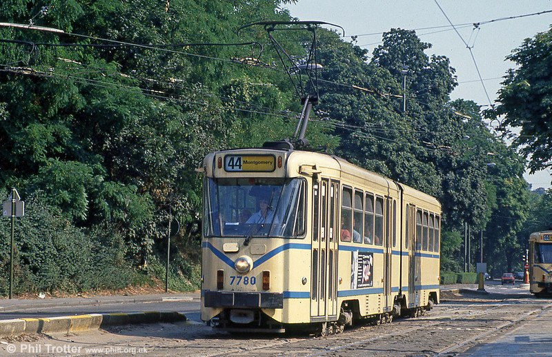 Car 7780 at Woluwe on 2nd August 1990.