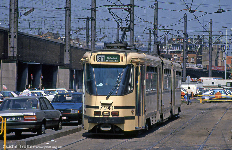 Car 7941 at Station Zuid on 2nd August 1990.