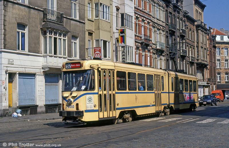 Car 7800 near Schaerbeek on 2nd August 1990.