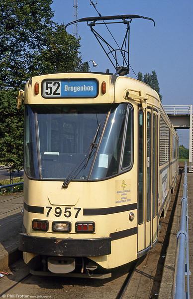 Car 7957 at Esplanade on 26th August 1991.