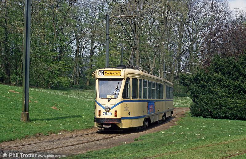 Car 7500 at Teruveren on 22nd April 1994.