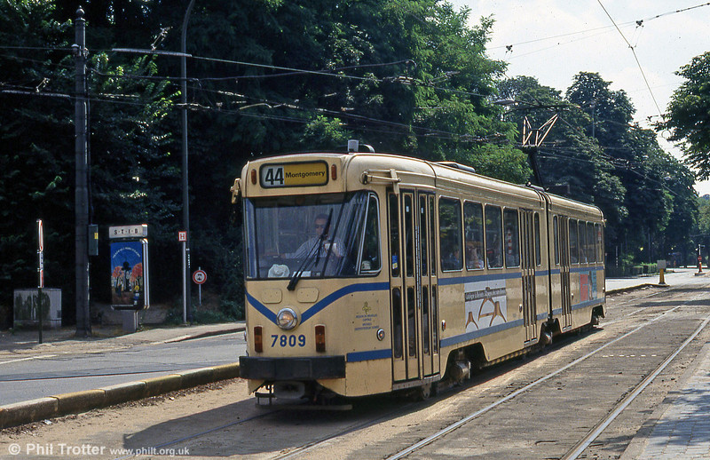 Car 7809 at Woluwe on 25th August 1991.