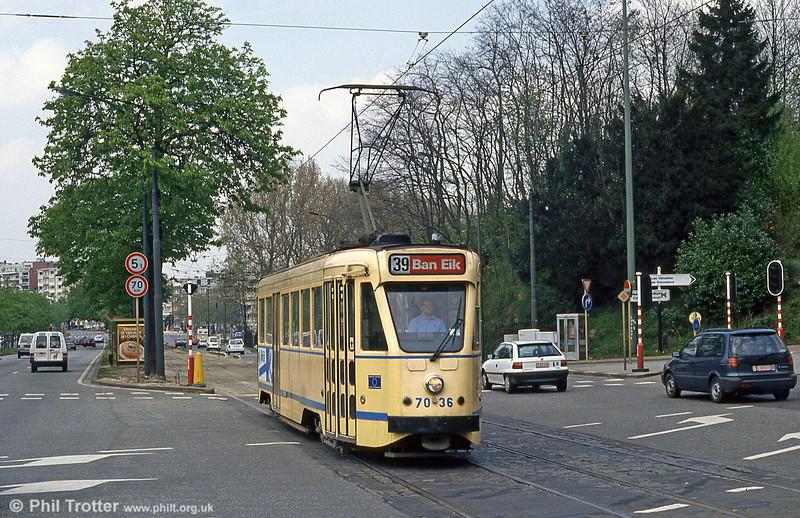 Car 7036 at Woluwe on 14th April 1994.