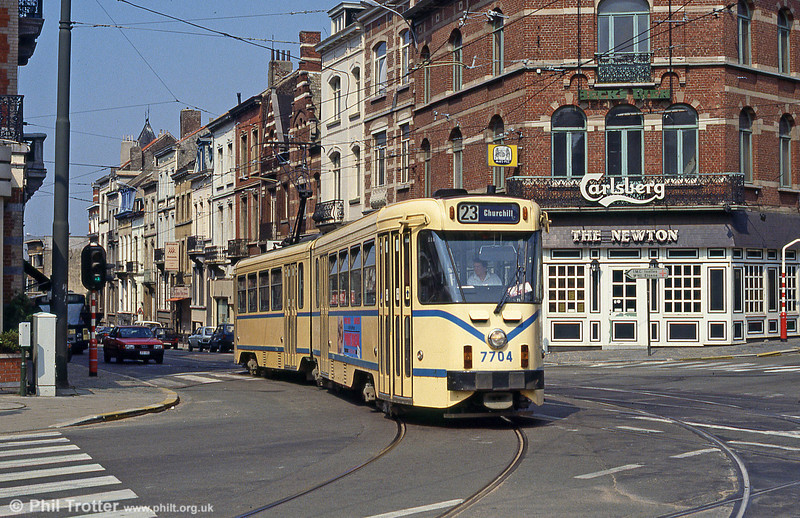 Car 7704 at Ixelles on 26th August 1991.