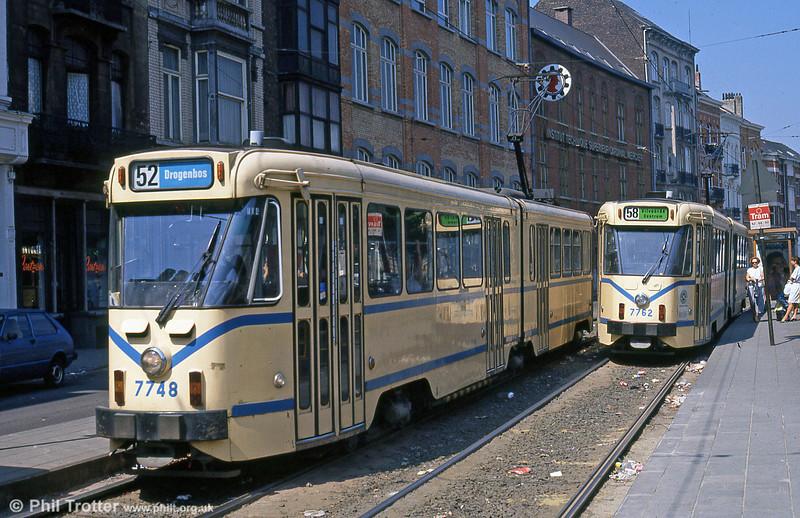 Car 7748 at Princesse Elisabeth on 26th August 1991.