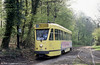 Brussels 7007 in the leafy surroundings of Teruveren on 22nd April 1994. Vintage cars operate over this section of route on Sundays; see the European Heritage Tramway File for pictures.