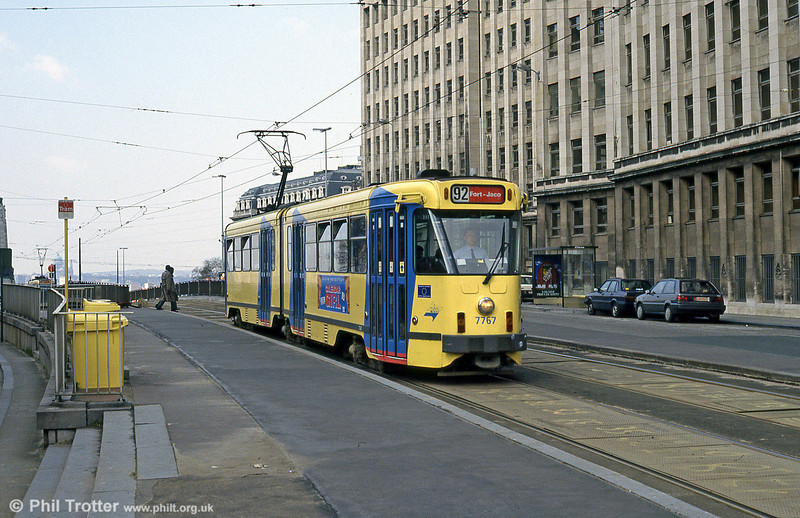 Car 7767 at Louiza on 25th August 1991.