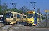 A comparison of the old and new liveries at Brussels Esplanade with cars 7925 and 7746 on 12th April 1994.