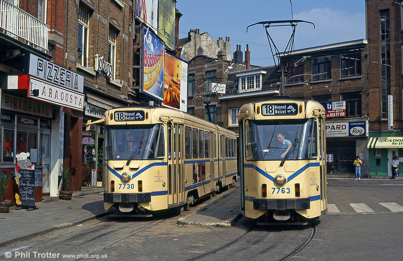 7730 and 7763 at Place St. Denis on 26th August 1991.