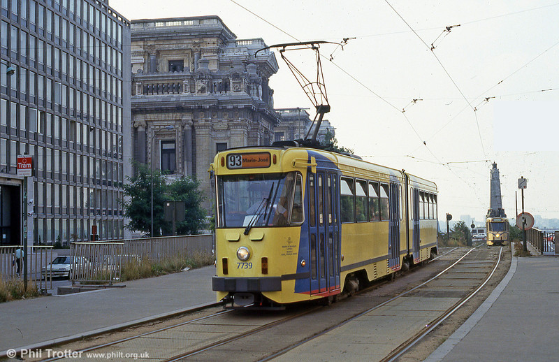 Car 7739 at Louiza on 26th August 1991.