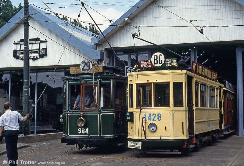 Car 1428 of 1923 at Woluwe museum on 25th August 1991.