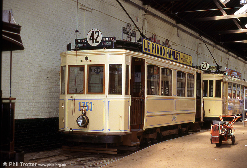 Car 1753 of 1914 at Woluwe museum on 25th August 1991.