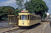 On Sundays and bank holidays, Brussels vintage cars operate from Woluwe along the route to Teruveren. This is car 1064 and its trailer at Woluwe on 25th August 1991.