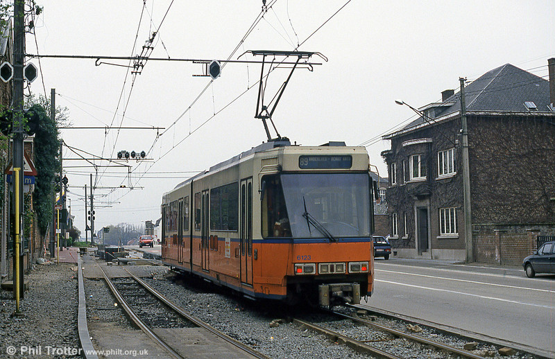 Car 6123 at Anderlues on 13th April 1994.