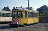Car 9596 at Anderlues Depot on 3rd August 1990 - An Esslingen car converted to a rail scrubber that came to Charleroi from Stuttgart in 1981.