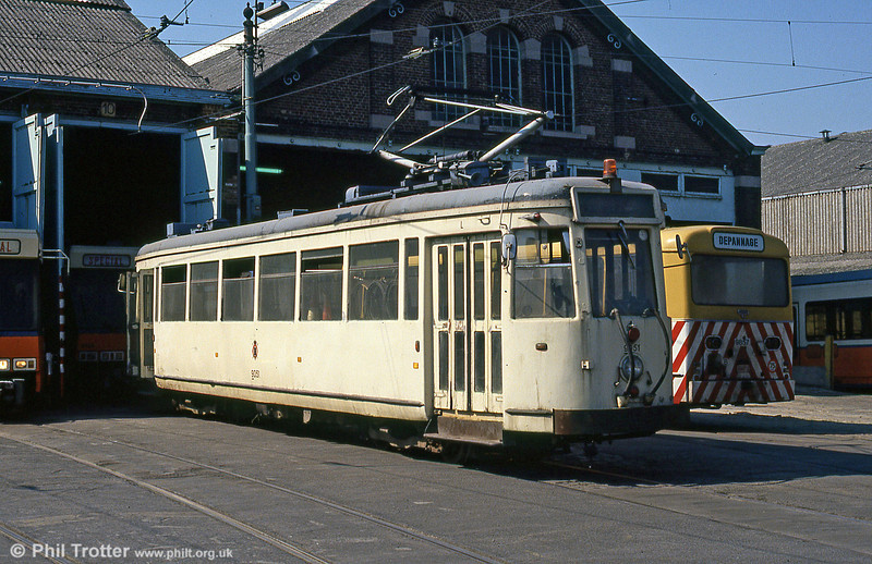Car 9051 at Anderlues Depot on 3rd August 1990.