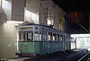 Charleroi STIC (Societe de Transports Intercommunaux de Charleroi) car 310 of 1920 and trailer 12 preserved on the platform of Beaux Arts Metro station, 30th August 1991. The street tram network in Charleroi closed in June 1974.