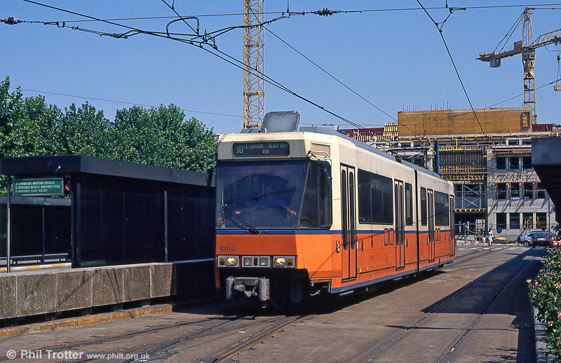 Car 6147 at Charleroi Sud on 3rd August 1990.