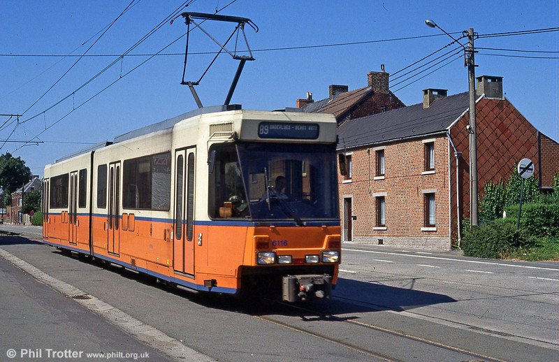 Car 6116 at near Anderlues on 30th August 1991.