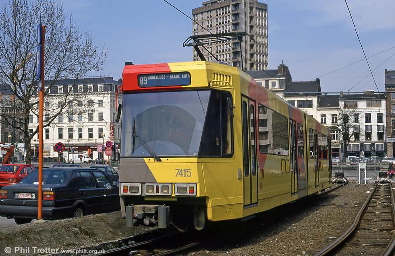 Car 7415 at Charleroi Sud on 13th April 1994.
