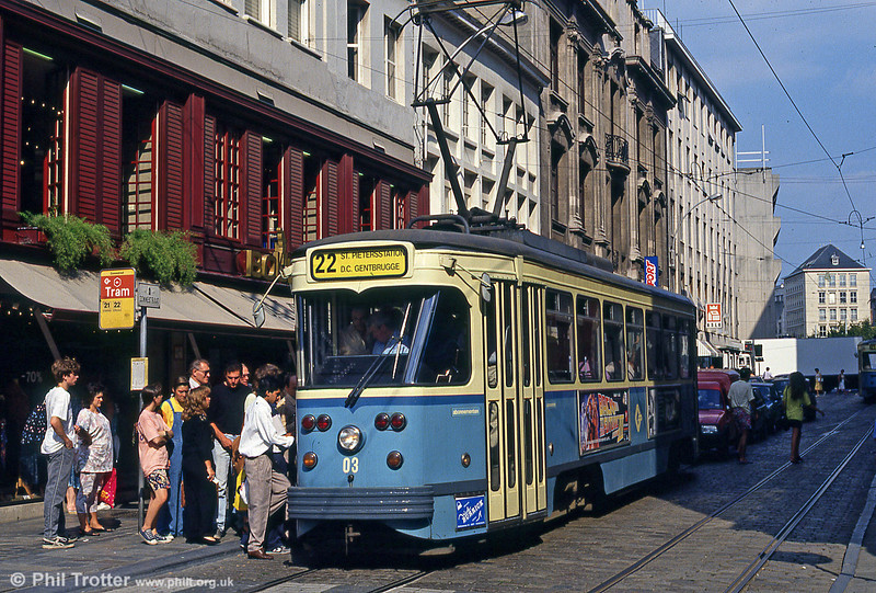 Car 03 at Zonnestraat on 30th July 1990.