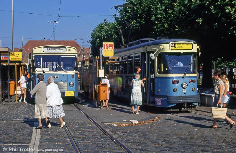 Car 31 at Sint-Pietersstation on 31st July 1990.