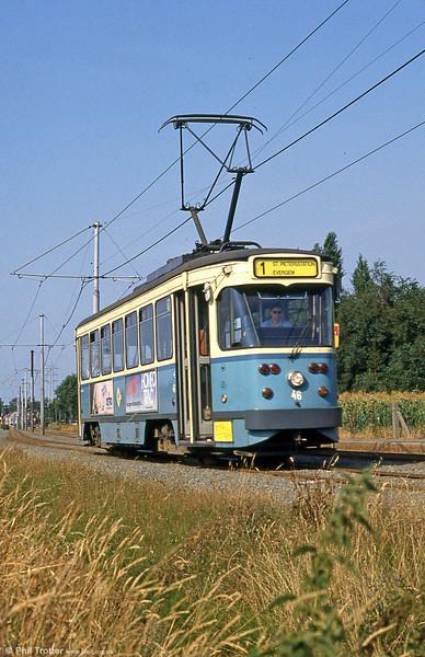 Car 46 at Hoevestraat on 31st July 1990.