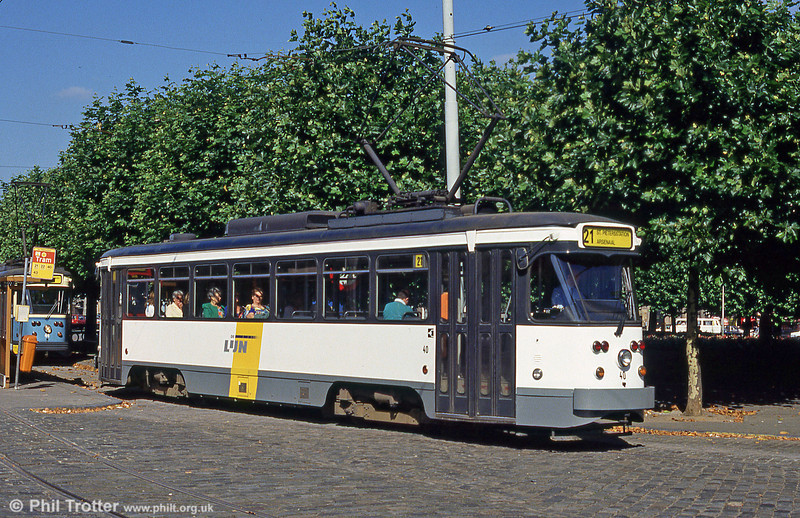Car 40 at Sint-Pietersstation on 29th August 1991.