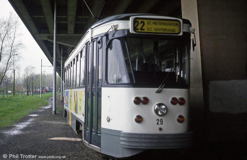 Car 29 at Gentbrugge on 9th April 1994.