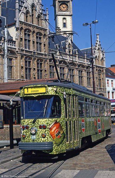 Car 34 at Korenmarkt on 31st July 1990.