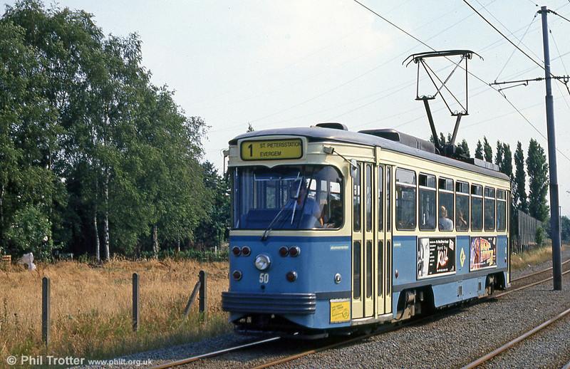 Car 50 at Hoevestraat on 31st July 1990.