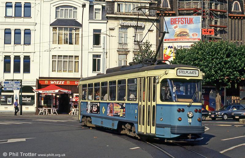 Car 38 at Sint-Pietersstation on 30th July 1990.