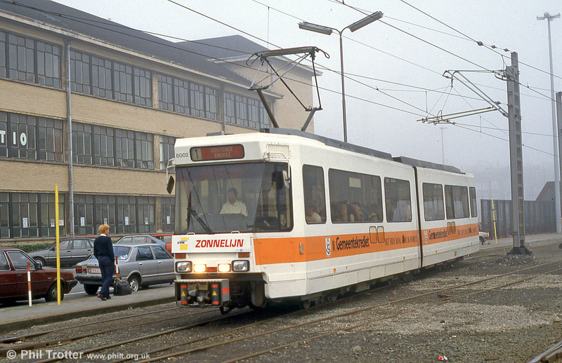Car 6002 at Ostend on 25th August 1991.