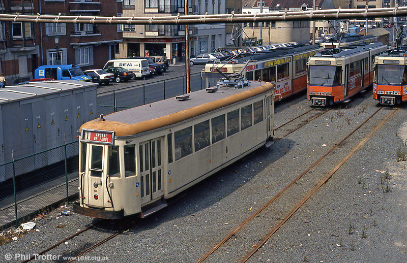 A rear view of SO car 9014 at Ostend  on 10th August 1990.