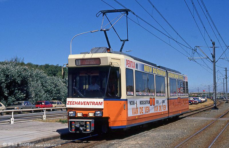 An unidentified car at Bredene Aan Zee on 29th July 1990.
