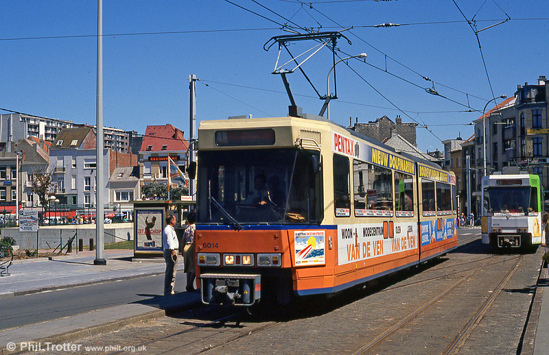 Car 6015 at Blankenberge Park on 29th July 1990.