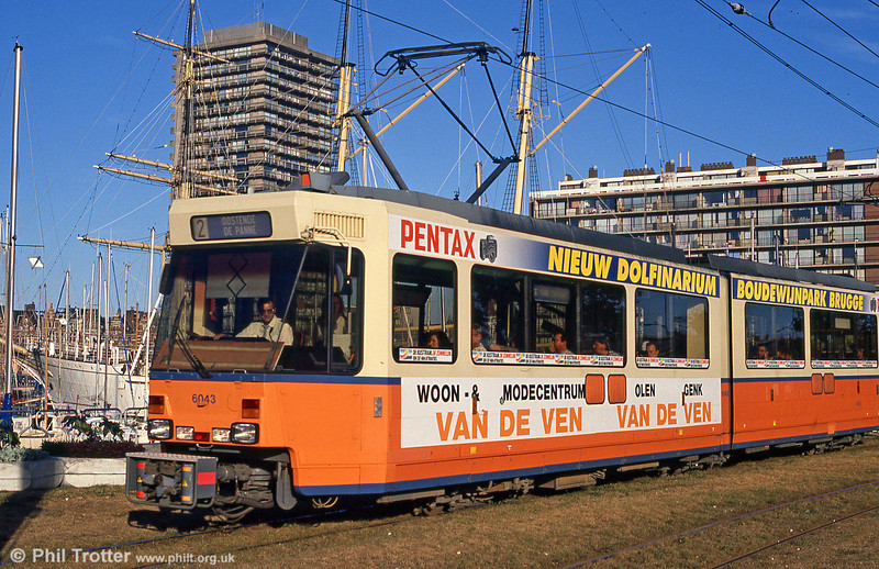Car 6043 at Ostende on 29th July 1990.